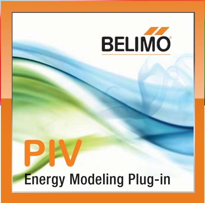 Belimo Pressure Independent (PIV) Energy Modeling Plug-in